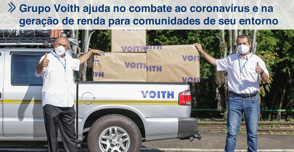 Grupo Voith ajuda no combate ao coronavírus em São Paulo